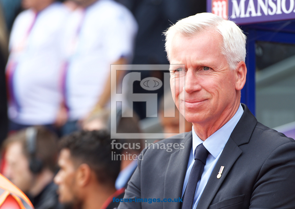 Manager Alan Pardew of Crystal Palace during the Barclays Premier League match at Selhurst Park, London<br /> Picture by Alan Stanford/Focus Images Ltd +44 7915 056117<br /> 03/10/2015