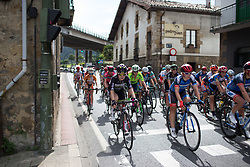 Hayley Simmonds (GBR) of Team WNT rides mid-pack during the fifth lap of the Durango-Durango Emakumeen Saria - a 113 km road race, starting and finishing in Durango on May 16, 2017, in the Basque Country, Spain.