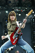 5/7/2003.Chrissie Hynde of The Pretenders pictured on stage at Nowlan Park in Kilkenny..Picture Dylan Vaughan