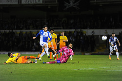 Tom Parkes of Bristol Rovers takes a shot at goal - Mandatory byline: Dougie Allward/JMP - 07966 386802 - 06/10/2015 - FOOTBALL - Memorial Stadium - Bristol, England - Bristol Rovers v Wycombe Wanderers - JPT Trophy
