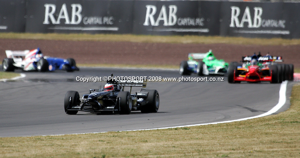 Team New Zealand's Jonny Reid opens up a lead on the chasing pack in the Sprint Race.<br /> A1GP Race Day. Taupo Motorsport Park, Taupo, New Zealand. Sunday, 20 January 2008. Photo: Dave Lintott/PHOTOSPORT