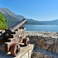 Cannon at Tower of All Saints in Korčula, Croatia<br />