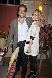 EMMA BLACKSHAW and MATT HERMER owner of Boujis at a dinner in aid of the Soil Association held at Bumpkin, 102 Old Brompton Road, London SW7 on 11th March 2009.