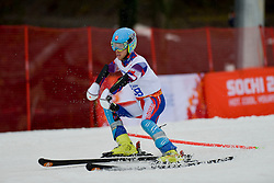 Martin FRANCE competing in the Alpine Skiing Super Combined Slalom at the 2014 Sochi Winter Paralympic Games, Russia