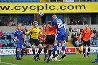 Photo: Tony Oudot/Richard Lane Photography. Millwall v Stockport Country. Coca-Cola Football League One. 27/03/2010. <br /> Steve Morison scores Millwalls second goal