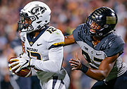 WEST LAFAYETTE, IN - SEPTEMBER 15: Johnathon Johnson #12 of the Missouri Tigers catches the ball in the end zone as Navon Mosley #27 of the Purdue Boilermakers defends at Ross-Ade Stadium on September 15, 2018 in West Lafayette, Indiana. (Photo by Michael Hickey/Getty Images) *** Local Caption *** Johnathon Johnson; Navon Mosley NCAA Football - Purdue Boilermakers vs Missouri Tigers at Ross-Ade Stadium in West Lafayette, Indiana. Sports photographer by Michael Hickey