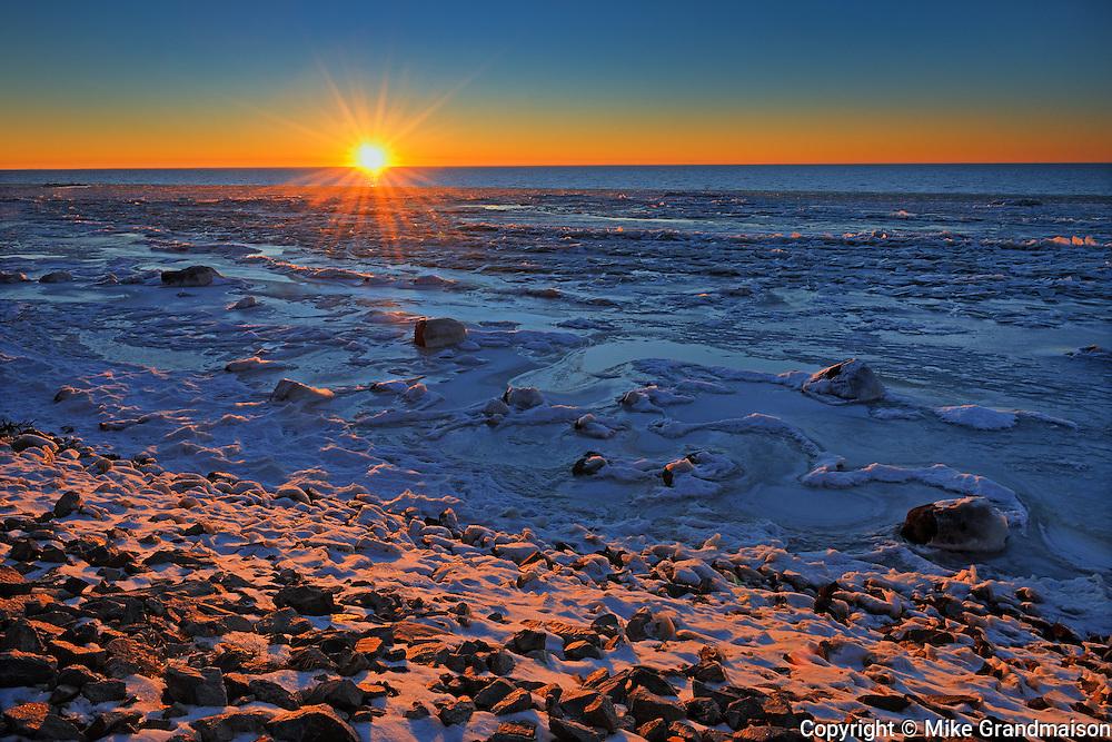 Sunset on Lake Winnipeg<br /> Grand Marais<br />Manitoba<br />Canada