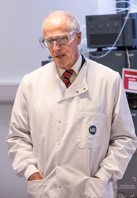 Prof Sir John Holman, president of the RSC met 15 current/graduate apprentices at LGC Fordham Laboratories in Ely. Apprentices showed Sir John how they mix batches of chemicals and gave him a tour of the various laboratories they work in.