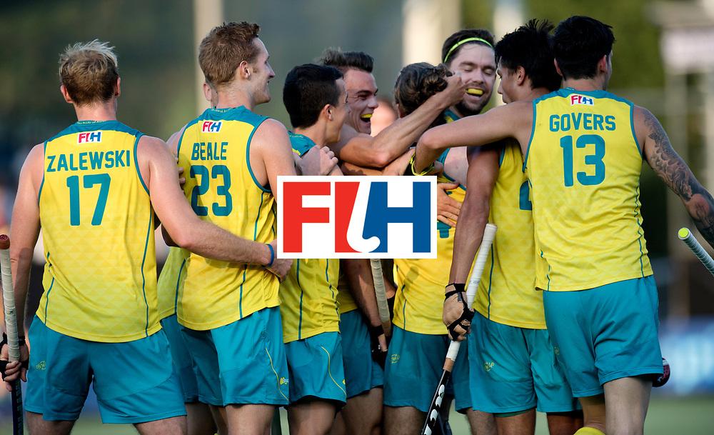 BREDA - Rabobank Hockey Champions Trophy<br /> Netherlands - Australia<br /> Photo: Australia celebrate the equaliser.<br /> COPYRIGHT WORLDSPORTPICS FRANK UIJLENBROEK