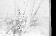 """AMAZING Photo Film discovered Documenting Work In Chernobyl <br /> Chernobyl worker Aleksandr Shubovskiy captures rare images <br /> <br /> During one of the days in 1979-80, when the erection of Ventilation Stack VT-2 common for the third and fourth (not existed at that time) Chernobyl NPP Units was coming to the end, Aleksandr Shubovskiy, who was working within a combined installation crew in a company named """"Spetsenergomontazh"""", arranged with the colleagues a small photo session on his own,They had their pictures taken.<br /> <br /> The author processed the film and put it on a wardrobe without printing until he had time to print the images. The moment to print the film somehow did not happen, while in February 1986 Aleksandr hit the road for a on a different site in Yakutia. And there he was caught by news about the accident at Chernobyl.<br /> <br /> A year later, when a Aleksandr  managed to get into his looted flat in the evacuated Pripyat, he discovered an untouched package with films. He brought them home and… forgot for almost 40 years…the printed photographs which no one and never have seen before until now<br /> <br /> Photo shows: Author of the photographs — Aleksandr Shubovskiy. <br /> ©Aleksandr Shubovskiy/Exclusivepix Media"""
