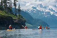 Sea Kayaking in Harriman Fiord, Prince William Sound, Alaska