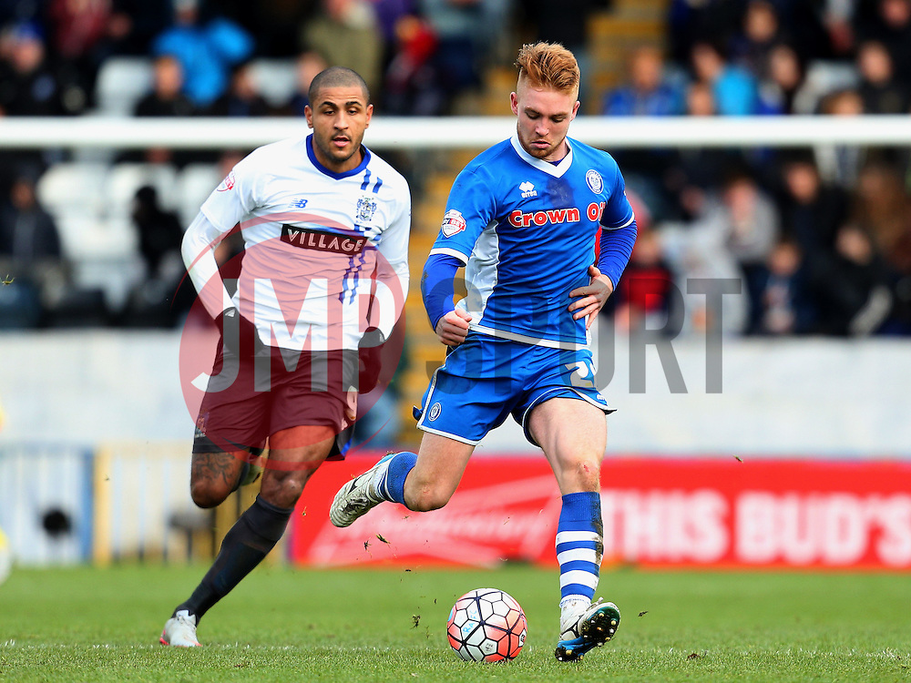 Callum Camps of Rochdale  - Mandatory byline: Matt McNulty/JMP - 06/12/2015 - Football - Spotland Stadium - Rochdale, England - Rochdale v Bury - FA Cup