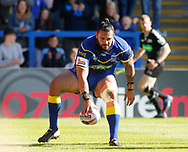 Ben Murdoch-Masila of Warrington Wolves runs in to score the try against Toronto Wolfpack during the Ladbrokes Challenge Cup match at the Halliwell Jones Stadium, Warrington<br /> Picture by Stephen Gaunt/Focus Images Ltd +447904 833202<br /> 13/05/2018