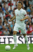 England captain John Terry in action during the international friendly match between England and Slovenia at Wembley Stadium, London on the 5th September 2009