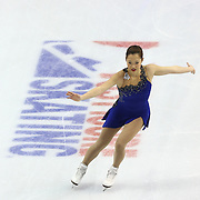 Angela Wang competes during the championship ladies free skate at the 2014 US Figure Skating Championships at the TD Garden on January 11, 2014 in Boston, Massachusetts.