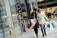 Pictured in Derby's Westfield centre are clothes models Julia Bisby, right, and Katy Padam, wearing this year's autumn fashions.