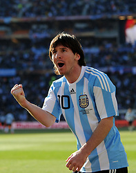 17.06.2010, Soccer City Stadium, Johannesburg, RSA, FIFA WM 2010, Argentinien vs Südkorea im Bild Lionel Messi jubelt, EXPA Pictures © 2010, PhotoCredit: EXPA/ IPS/ Mark Atkins / SPORTIDA PHOTO AGENCY