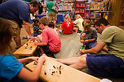 "Barnes and Noble hosts a ""Hands-On Learning"" event focused on helping children build fine motor skills using LEGOs at their store in Newington, NH on Saturday June 23, 2012. Photo Copyright Craig Dilger"