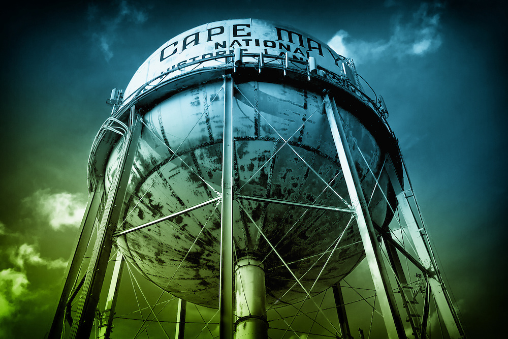 Rusting water tower in Cape May, New Jersey. (Since restored).