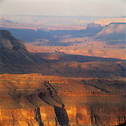 Telephoto view west from Crazy Jug Pt. over terraces & side canyons, Grand Canyon National Park, Arizona..Media Usage:.Subject photograph(s) are copyrighted Edward McCain. All rights are reserved except those specifically granted by McCain Photography in writing...McCain Photography.211 S 4th Avenue.Tucson, AZ 85701-2103.(520) 623-1998.mobile: (520) 990-0999.fax: (520) 623-1190.http://www.mccainphoto.com.edward@mccainphoto.com