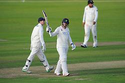 Chris Cooke of Glamorgan celebrates his half-century - Mandatory byline: Dougie Allward/JMP - 07966386802 - 22/09/2015 - Cricket - County Ground -Bristol,England - Gloucestershire CCC v Glamorgan CCC - LV=County Championship
