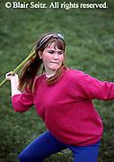 Outdoor recreation, High School Girl Throws Javelin, Cedar Cliff High School, PA