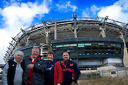 L-: Mandy Pugh, Lee Pugh (from  Ammanford), Sharon Price, Steve Price (From wales, living in Cornwall) - Welsh rugby supporters visiting Dublin for the Wales versus Ireland game as part of the six nations tournament