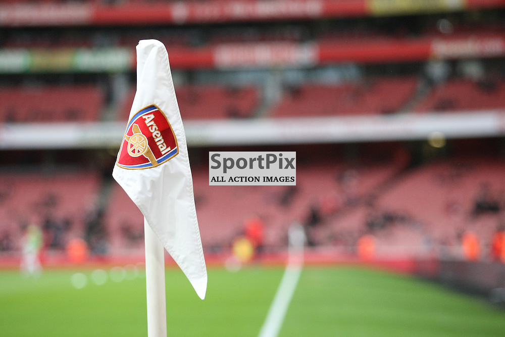 Arsenal corner flag for the FA Cup tie against Sunderland