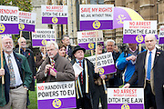 UKIP Mass Lobby against European Arrest Warrant <br /> 10th November 2014 <br /> opposite Parliament, London, Great Britain <br /> <br /> <br /> Photograph by Elliott Franks <br /> Image licensed to Elliott Franks Photography Services