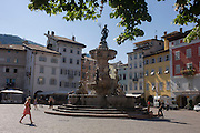 Eighteenth century Neptune fountain in Piazza Duomo, Trento.