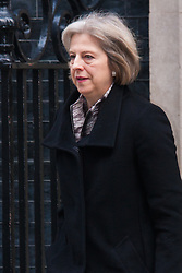 London, March 10th 2015. Ministers arrive at the weekly cabinet meeting at 10 Downing Street. PICTURED: Home Secretary Theresa May