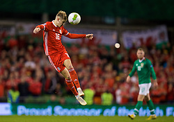DUBLIN, IRELAND - Tuesday, October 16, 2018: Wales' David Brooks during the UEFA Nations League Group Stage League B Group 4 match between Republic of Ireland and Wales at the Aviva Stadium. (Pic by David Rawcliffe/Propaganda)