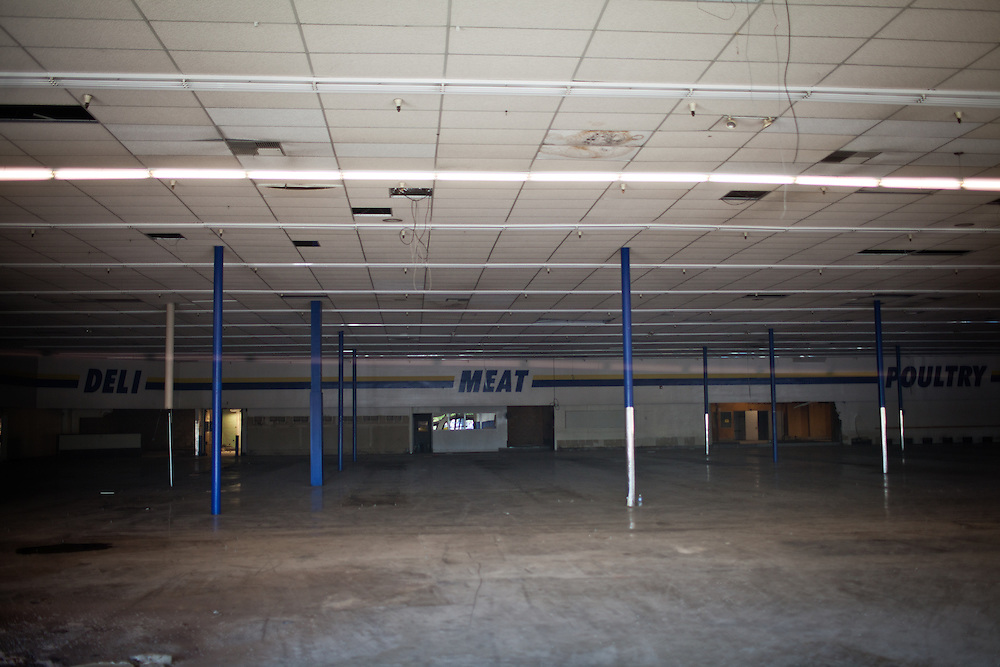 An abandoned grocery store in Stockton, Calif., March 6, 2012.
