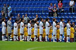 01.08.2010, , Bielefeld, GER, FIFA U-20 Frauen Worldcup, Kolumbien vs Korea, im Bild die koreanische Mannschaft bei der National Hymne, EXPA Pictures © 2010, PhotoCredit: EXPA/ nph/  Roth+++++ ATTENTION - OUT OF GER +++++ / SPORTIDA PHOTO AGENCY
