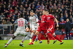 13.03.2019, Allianz Arena, Muenchen, GER, UEFA CL, FC Bayern Muenchen vs FC Liverpool, Achtelfinale, Rückspiel, im Bild v.l. Sadio Mane (FC Liverpool), Roberto Firmino (FC Liverpool), James Rodriguez (FC Bayern), Javi Martinez (FC Bayern) // during the UEFA Champions League round of 16, 2nd leg match between FC Bayern Muenchen and FC Liverpool at the Allianz Arena in Muenchen, Germany on 2019/03/13. EXPA Pictures © 2019, PhotoCredit: EXPA/ Johann Groder