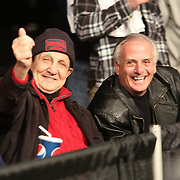 Boxing promoter Tony Graziano gives a thumbs up during Showtime Televisions ShoBox:The Next Generation boxing match at the Event Center at Turning Stone Resort Casino on Friday, February 28, 2014 in Verona, New York.  (AP Photo/Alex Menendez)
