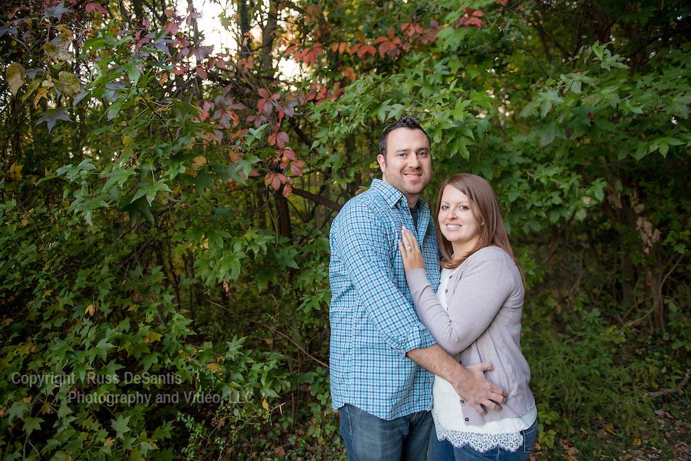 Steven Weinblatt and Nikki Bertiger photographed at Sayen Gardens in Hamilton Twp., NJ, on October 15, 2015. /Russ DeSantis Photography and Video, LLC