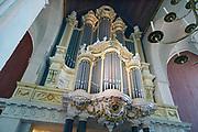 Nederland, Nijmegen, 3-4-2017St Stephanuskerk of Stevenskerk in het centrum van de stad. Het beroemde Konig orgel.Foto: Flip Franssen