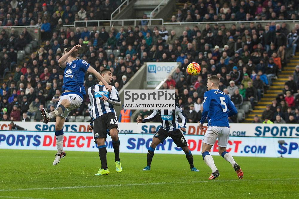 Aleksandar Mitrovic heads wide in the Newcastle v Everton 26 December 2015<br /><br />(c) Russell G Sneddon / SportPix.org.uk