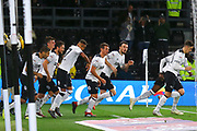 Derby County midfielder Craig Bryson (4) scores a goal 1-1 and the Derby players celebrate during the EFL Sky Bet Championship match between Derby County and Norwich City at the Pride Park, Derby, England on 3 October 2018.