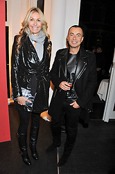 MELISSA ODABASH and JULIEN MACDONALD at a Private View of Bruno Bisang 30 Years of Polaroids held at The Little Black Gallery, 13A Park Walk, London SW10 on 15th January 2013.