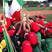 8/22/10 Aberdeen, MD: Mexico holding their World Championship Trophy after beating Ocala Florida 7-1 at The 2010 Cal Ripken World Series in Aberdeen MD.
