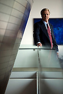 Capital One ceo Richard Fairbank in the atrium of the company's headquarters in Mclean, VA on June 29, 2007. (Michael Temchine for The New York Times)