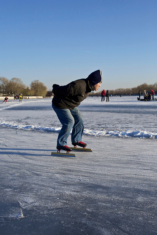 On the Houhai lake, winter 2012. Beijing