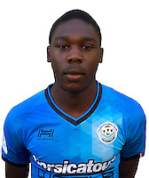 Mickael Nanizayamo during photocall of Tours FC for new season of Ligue 2 on October 9th 2016<br /> Photo : Fct / Icon Sport