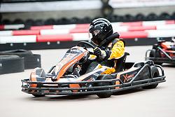 Red Bull Kart Fight promo at Xtreme Karting, Newbridge. Christie Doran's Ginetta Racing challenge..©Pic : Michael Schofield.
