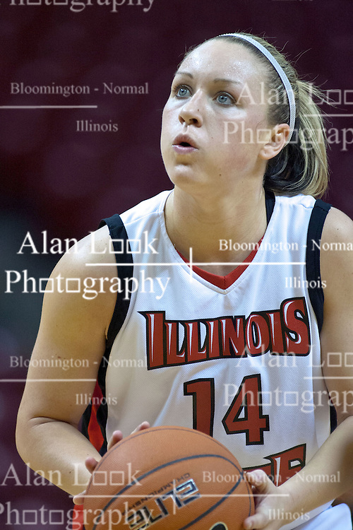 31 December 2009: Amanda Clifton. The Bulldogs of Drake fall to the Redbirds of Illinois State University by a score of 77-58in a Missouri Valley Conference game on Doug Collins Court in Redbird Arena in Normal Illinois.