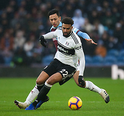 Cyrus Christie of Fulham (R) and Dwight McNeil of Burnley in action - Mandatory by-line: Jack Phillips/JMP - 12/01/2019 - FOOTBALL - Turf Moor - Burnley, England - Burnley v Fulham - English Premier League