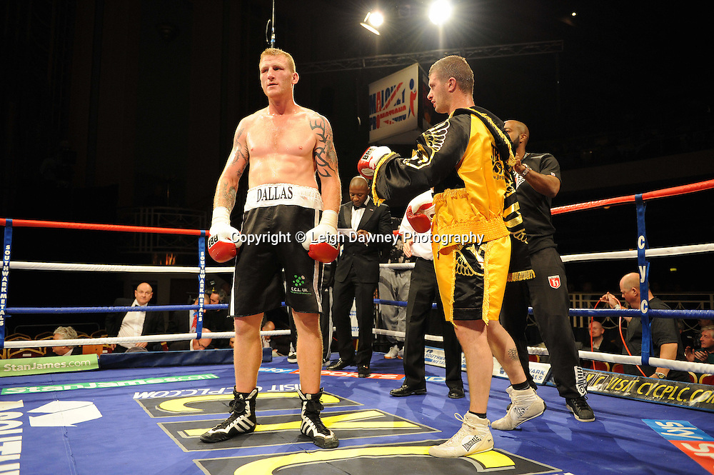 Tom Dallas defeats Paul Morris at The Troxy, Limehouse, London, 16th October 2010. Frank Maloney Promotions © Photo credit: Leigh Dawney