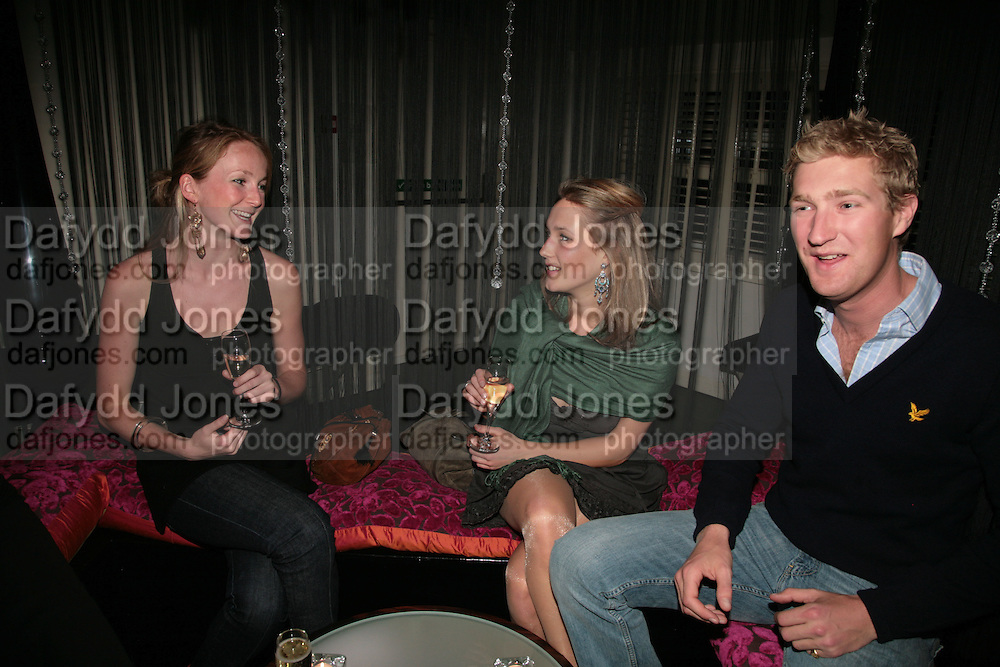 Rosanna Keene, Jenna Carne and Matthew Law, LAUNCH OF 'UPSTAIRS' AT MAMILANJI. Hosted by Edward Taylor, Matthew Law, Milan lebloch and Geena Dutt.  107 King's Rd. London. 19 April 2007.  -DO NOT ARCHIVE-© Copyright Photograph by Dafydd Jones. 248 Clapham Rd. London SW9 0PZ. Tel 0207 820 0771. www.dafjones.com.